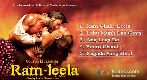 Ranveer Singh And Deepika Padukone in Ramleela Movie Jukebox Stills