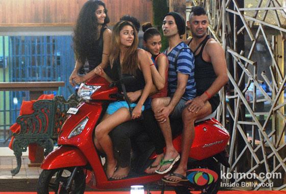 Ratan Rajput, Shilpa Sakhlani And Sangram Singh in Bigg Boss 7