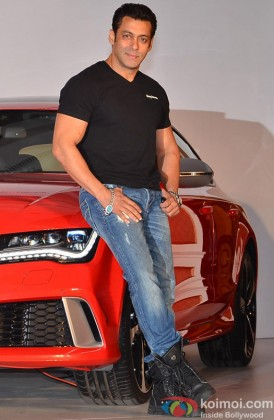 Salman Khan during the launch of luxury sports car