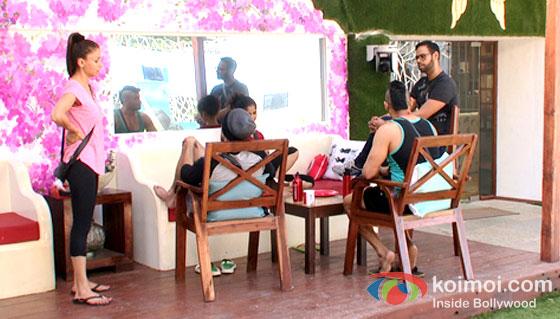 Shilpa Sakhlani, Ratan Rajput, Sangram Singh And VJ Andy in Bigg Boss 7