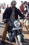 Sunny Deol rides a bike still from 'Singh Saab The Great'