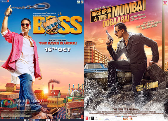 Akshay starrer Boss and Once Upon Ay Time In Mumbai Dobaara! movie poster