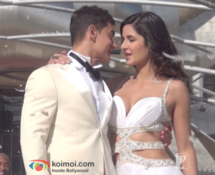 Aamir Khan and Katrina Kaif on the sets of Dhoom 3