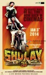Amitabh Bachchan and Dharmendra in Sholay 3D Movie Poster