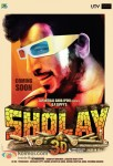 Amjad Khan in Sholay 3D Movie Poster