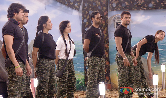 Armaan Kohli, Sangram Singh, Sofia Hayat, Elli Avram, VJ Andy and Gauhar Khan in Bigg Boss 7