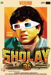 Dharmendra in Sholay 3D Movie Poster