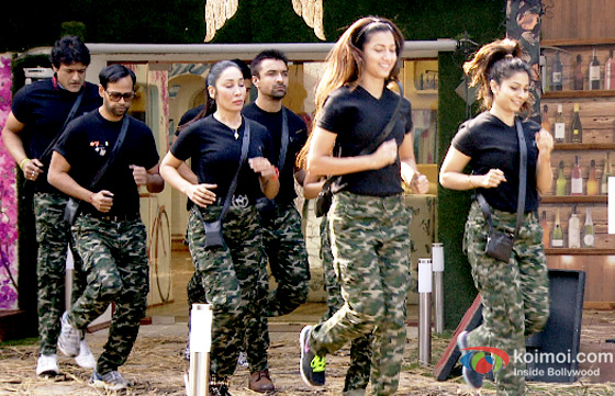 Gauhar Khan, Tanisha Mukherjee, Sofia Hayat VJ Andy and Armaan Kohli in Bigg Boss 7