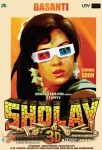 Hema Malini in Sholay 3D Movie Poster