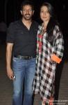 Kabir Khan and Mini Mathur during the screening of film Gori Tere Pyaar Mein!