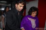 Karan Johar and Hiroo Johar during the screening of film Gori Tere Pyaar Mein!