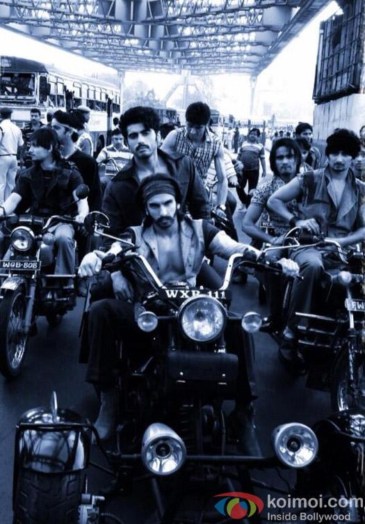 Arjun Kapoor and Ranveer Singh on the sets of film Gunday