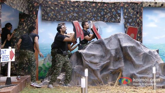 Sangram Singh, VJ Andy and Armaan Kohli in Bigg Boss 7