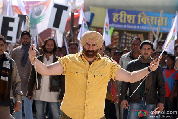 Sunny Deol in a still from Singh Saab The Great