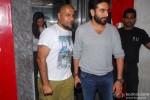 Vishal Dadlani and Shekhar Ravjiani during the screening of film Gori Tere Pyaar Mein!