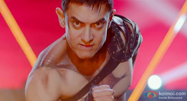 Aamir Khan in a still from Dhoom 3