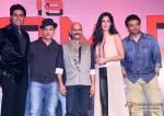Abhishek Bachchan, Aamir Khan, Vijay Krishna Acharya, Katrina Kaif and Uday Chopra at Dhoom 3 Press Meet In Mumbai Pic 2