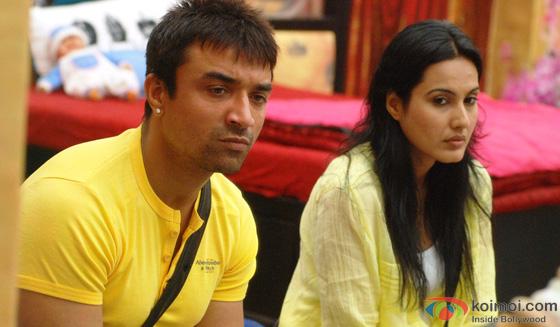 Ajaz Khan and Kamya Panjabi in Bigg Boss 7