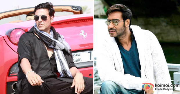 Akshay Kumar and Ajay Devgan