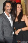 Arjun Rampal and Mehr Jessia Rampal At Suzanne's Store Launch