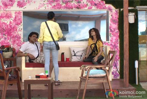 Armaan Kohli, Kamya Panjabi and Tanishaa Mukherjee in Bigg Boss 7