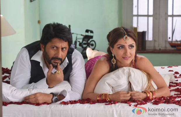 Arshad Warsi and Soha Ali Khan in a still from Mr Joe B. Carvalho