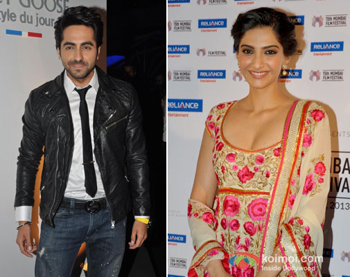 Ayushmann Khurrana and Sonam Kapoor at an event