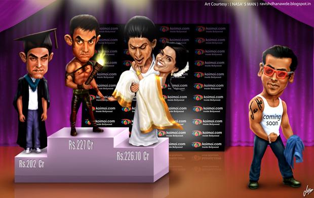 Box Office Race 2013: 3 Idiots, Dhoom 3,  Chennai Express and Jai Ho