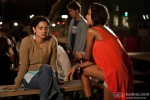 Kangana Ranaut and Lisa Haydon in Queen Movie Stills
