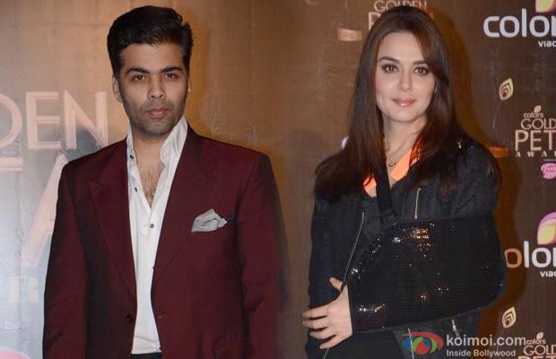 Karan Johar and Preity Zinta at an event