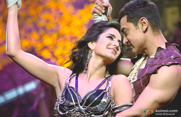Katrina Kaif and Aamir Khan in a still from Dhoom 3