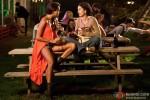 Lisa Haydon and Kangana Ranaut in Queen Movie Stills