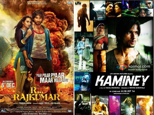 R… Rajkumar and Kaminey Movie Poster