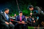 Sachin Tendulkar and Manish Paul during the launch of Celebrity Cricket League (CCL) Season 4