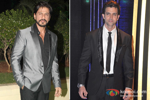 Shah Rukh Khan and Hrithik Roshan at an event