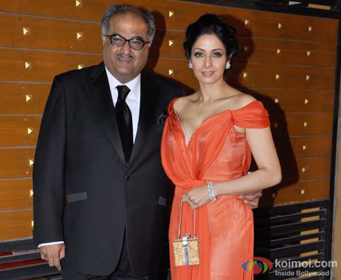 Boney Kapoor and Sridevi at an event