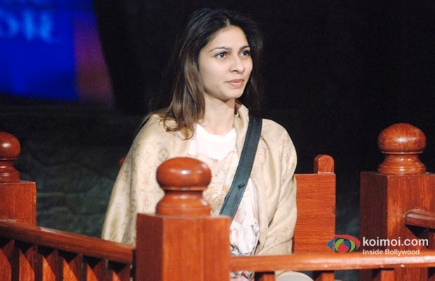 Tanishaa Mukherjee on the sets of Bigg Boss 7