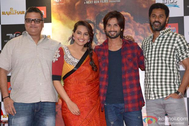 Viki Rajani, Sonakshi Sinha Shahid Kapoor and Prabhu Dheva Launch 'R… Rajkumar' Comic Book