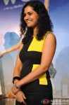 Devika Bhagat during the first look launch of film 'One By Two'