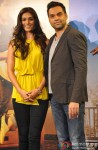 Preeti Desai and Abhay Deol during the first look launch of film 'One By Two'