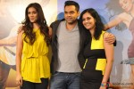 Preeti Desai, Abhay Deol and Devika Bhagat during the first look launch of film 'One By Two'