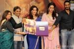 Rekha Bhardwaj, Vishal Bhardwaj, Madhuri Dixit, Huma Qureshi and Abhishek Chaubey during the music launch of 'Dedh Ishqiya' Pic 1