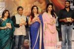 Rekha Bhardwaj, Vishal Bhardwaj, Madhuri Dixit, Huma Qureshi and Abhishek Chaubey during the music launch of 'Dedh Ishqiya' Pic 2