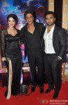 Sunny Leone, Shah Rukh Khan and Sachiin Joshi during the premiere of film 'Jackpot'