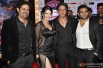 Kaizad Gustad, Sunny Leone, Shah Rukh Khan and Sachiin Joshi during the premiere of film 'Jackpot'