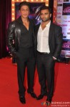 Shah Rukh Khan and Sachiin Joshi during the premiere of film 'Jackpot'