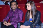 A R Rahman and Alia Bhatt during the trailer launch of film 'Highway'