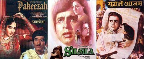 Pakeezah, Silsila and Mughal-E-Azam Movie Poster