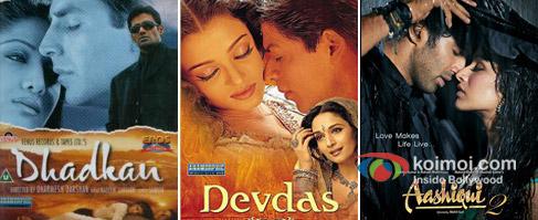 Dhadkan, Devdas and Aashiqui 2 Movie Poster