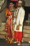 Sameera Reddy Poses With Her Husband Akshai Varde Pic 1